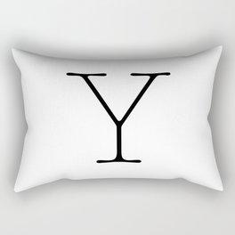 Letter Y Typewriting Rectangular Pillow