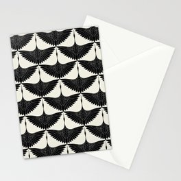 CRANE DESIGN - pattern - Black and White Stationery Cards
