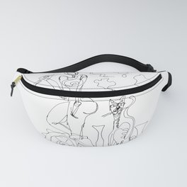 Woman with cat and vases composition Fanny Pack