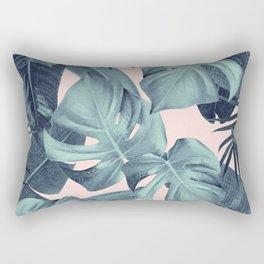 Tropical Summer Jungle Leaves Dream #3 #tropical #decor #art #society6 Rectangular Pillow