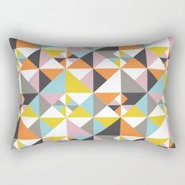Detailed Geometric Pattern - Multicolored Rectangular Pillow
