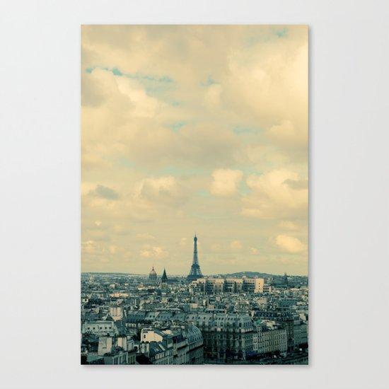 Paris In Blue Canvas Print