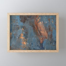 Human and Blue Framed Mini Art Print