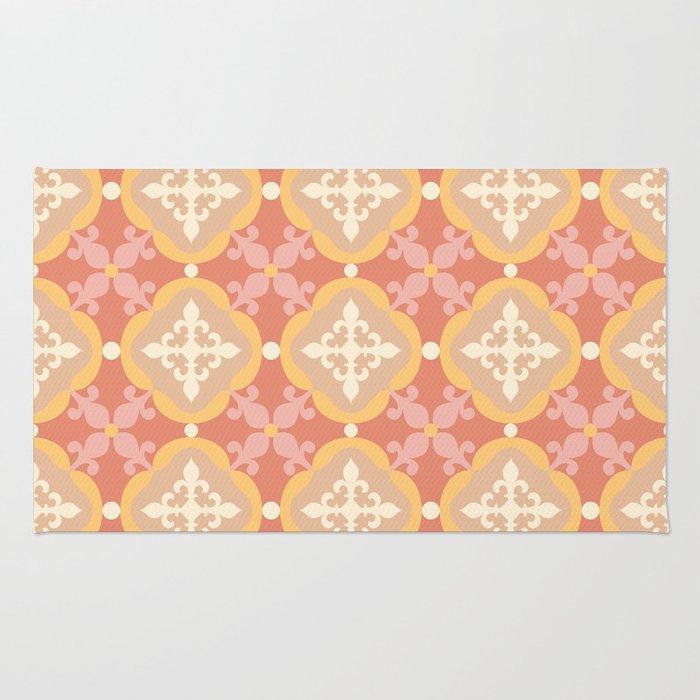 Moroccan tile - terracotta Rug