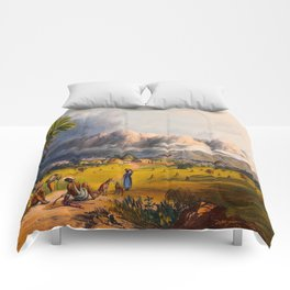Esmeralda On The Orinoco Illustrations Of Guyana South America Natural Scenes Hand Drawn Comforters