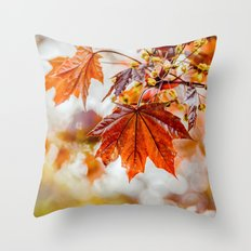 Maple Blossom Throw Pillow
