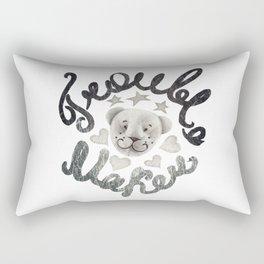 Trouble maker teddy bear Rectangular Pillow