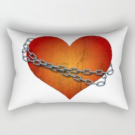 chained heart Rectangular Pillow