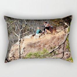 Climbing Up Sparrowhawk Mountain above the Illinois River, No. 8 of 8 Rectangular Pillow
