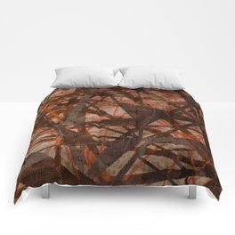Fading Ley Lines (orange colourway) Comforters