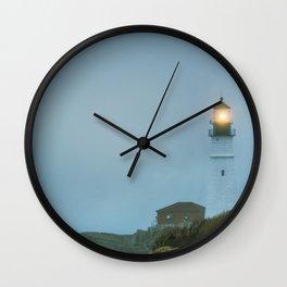 Portland Head Light Misty Maine Lighthouse New England Light Station Atlantic Coast Wall Clock