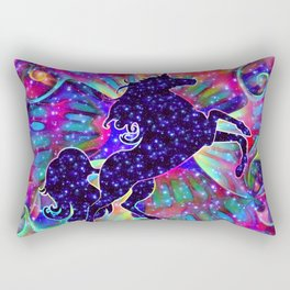 UNICORN OF THE UNIVERSE multicolored Rectangular Pillow