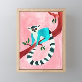 L for Lemur Framed Mini Art Print