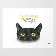 Black - Cat Art Print