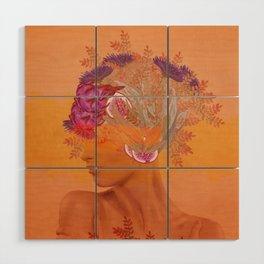 Woman in flowers III Wood Wall Art
