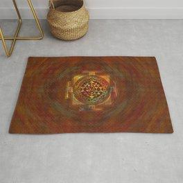 Colorful Sri Yantra  / Sri Chakra Rug