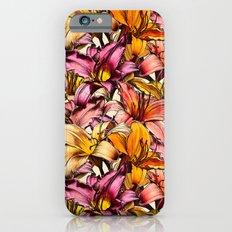 Daylily Drama - a floral illustration pattern iPhone 6s Slim Case