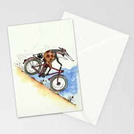 Badger likes going fast Stationery Cards