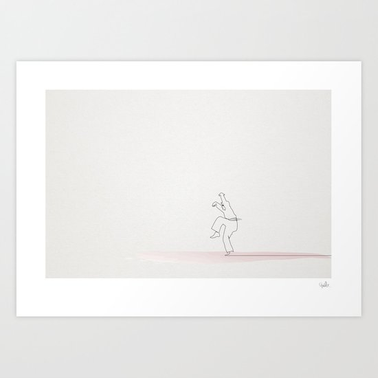 The Karate Kid linea Art Print