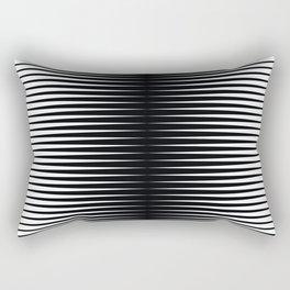 op art - horizontal triangles Rectangular Pillow