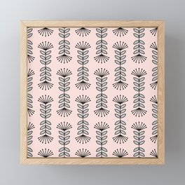 Retro Pink Floral Pattern - Mix and Match with Simplicity of Life Framed Mini Art Print