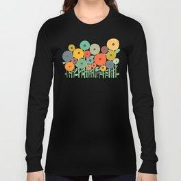 Cat in flower garden Long Sleeve T-shirt