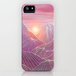 Lines in the mountains 02 iPhone Case