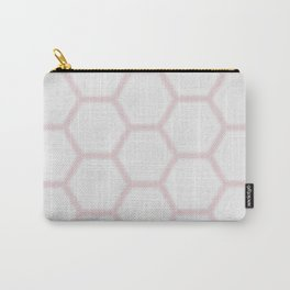 Pink White Marble Geometric Pattern Carry-All Pouch