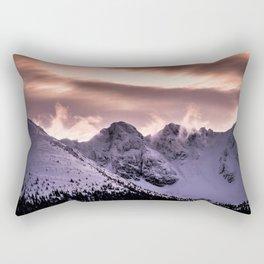 Cloudy peaks Rectangular Pillow