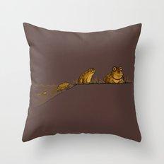 Evolution of Hypnotoad Throw Pillow
