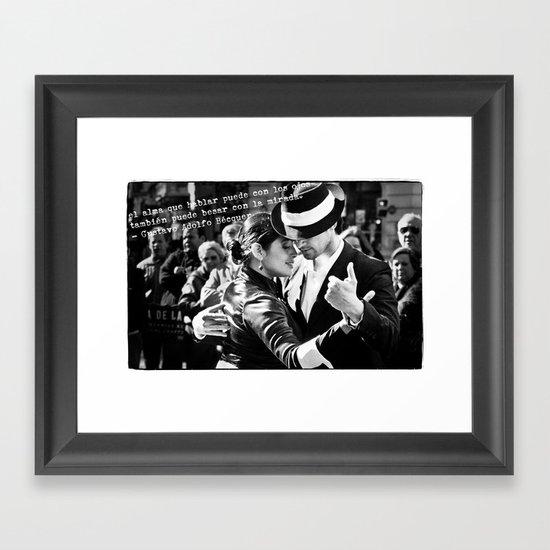 Tango Couple - Becquer Framed Art Print