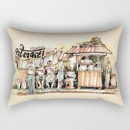 Kolkata India Sketch in Watercolor (1) Rectangular Pillow