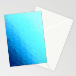 Turquoise Blue Texture Ombre Stationery Cards