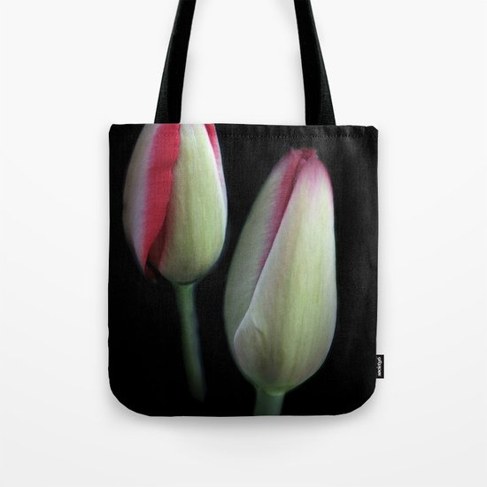 the beginning - on black Tote Bag