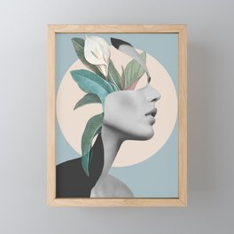 Floral Portrait /collage Framed Mini Art Print