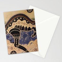 Kangaroo mural Stationery Cards