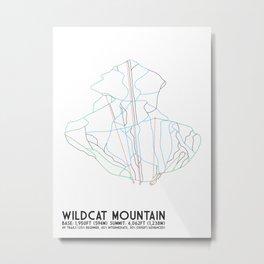 Wildcat Mountain, NH - Minimalist Trail Art Metal Print