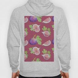 Figs fruit watercolor pattern Hoody