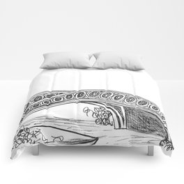 Central Park Drawing Comforters