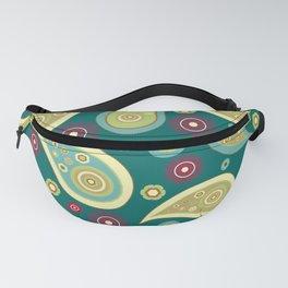 Oriental Persian Paisley, Flowers - Blue Green Fanny Pack
