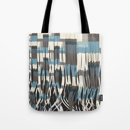 Abstract Graphic Ribbons Tote Bag