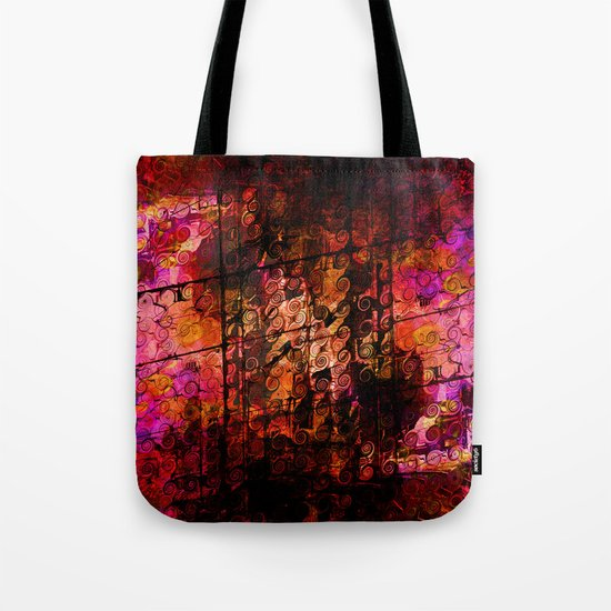 Compelling, Abstract Landscape Art Lines Swirls Tote Bag