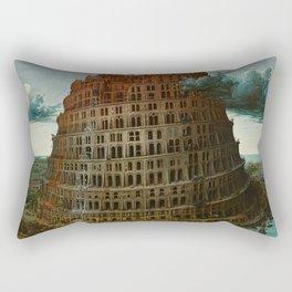 Pieter Bruegel the Elder - The Tower of Babel (Rotterdam) Rectangular Pillow