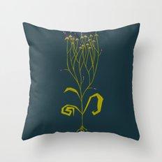 Gothic Botanical Throw Pillow