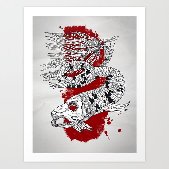 Skeleton Sea Art Print
