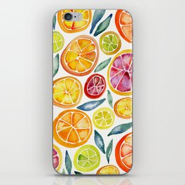 Sliced Citrus Watercolor iPhone Skin