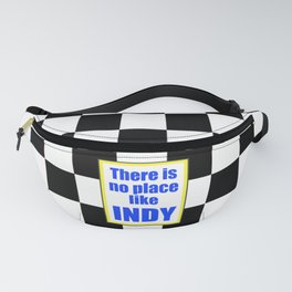 There Is No Place Like INDY, blue & yellow Fanny Pack