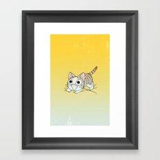 Vicky cat Framed Art Print