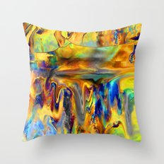 Abstract of Wild Art Throw Pillow