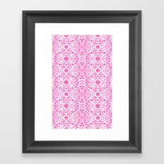 Hot Pink Lace Framed Art Print